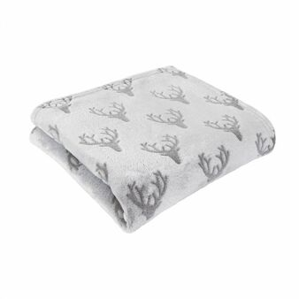 Grey Stag Fleece Throw (130cm x 150cm) - 060667