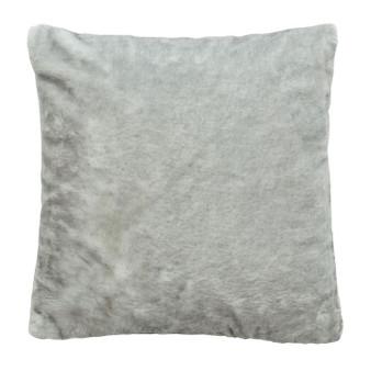 Silver Grey Faux Fur Cushion (43cm x 43cm) - 060304