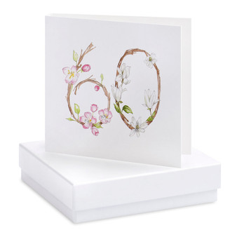 Crumble & Core - Earrings on a gift Card - floral 60th - CE074