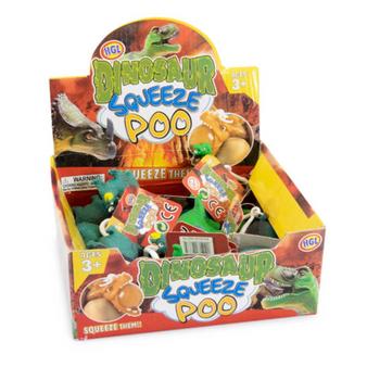 Squeezy Poo Dinosaur Keyring (SV14667)