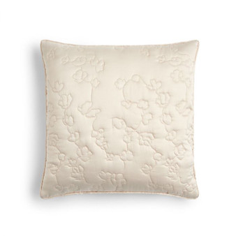 Flora Natural Quilted Filled Square Cushion (45cm x 45cm) - 059952