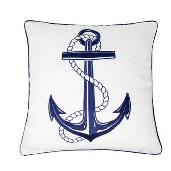 Nautical Anchor Embroidered Cushion (45x45cm) - 060320
