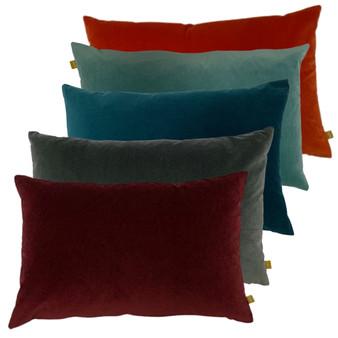 furn Contra Velvet Polyester Filled Cushion - 40cm X 60cm