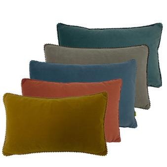 furn Cosmo Rectangular Velvet Polyester Filled Cushion - 30cm X 50cm