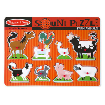 Farm Animals Wooden Sound Puzzle