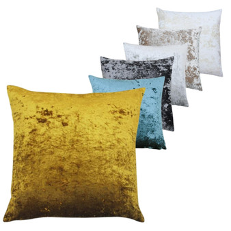 Paoletti Verona Crushed Velvet Polyester Filled Cushion - 55cm X 55cm