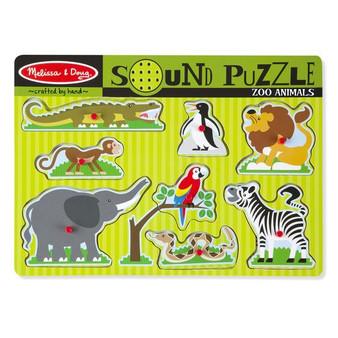 Zoo Animals Wooden Sound Puzzle
