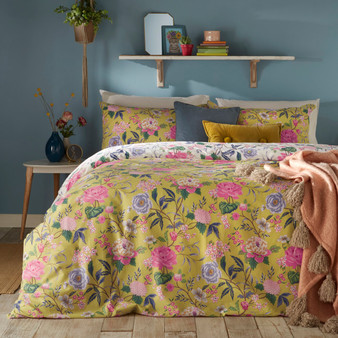 furn Azalea Floral Duvet Cover Set - Bamboo