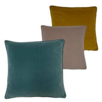 furn Cosmo Rectangular Velvet Polyester Filled Cushion - 45cm X 45cm