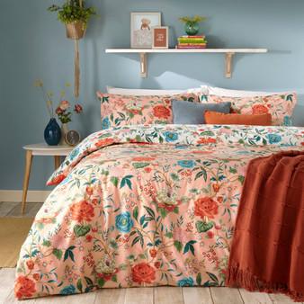 furn Azalea Floral Duvet Cover Set - Pink