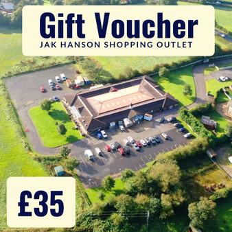 'In store' JAK Hanson Shopping Outlet, Wrightington Gift Voucher - £35