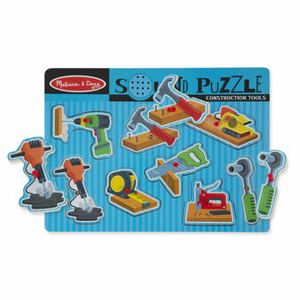 Construction Tools Wooden Sound Puzzle