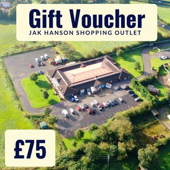 'In store' JAK Hanson Shopping Outlet, Wrightington Gift Voucher - £75