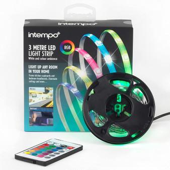Intempo Sync Multi-Colour Changing USB LED Strip Light | 5M | 5 Colour Modes (EE6311STKEU7V2)