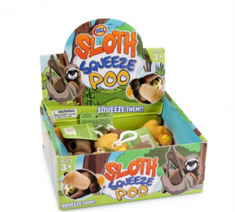 Squeezy Poo Sloth Keyring (SV14666)