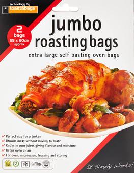 Toastabags Jumbo roasting bags X 2 - extra large self basting (55cm X 60cm)