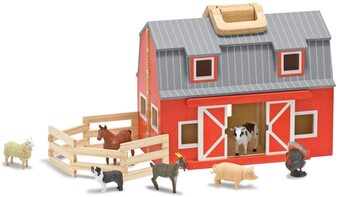 Melissa & Doug Fold & Go Barn Pretend Play Set