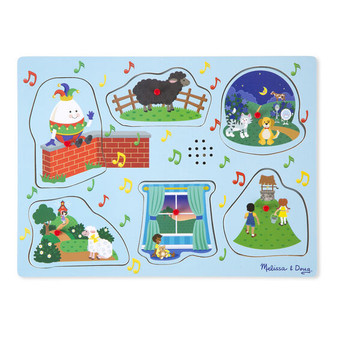 Sing-Along Nursery Rhymes Wooden Sound Puzzle - 1