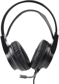 Intempo Quest Wired Over Ear Headphones Gaming Headset | LED Lights | Adjustable Mic (EE5800BLKSTKEU7)