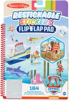Melissa & Doug PAW Patrol Restickable Stickers Flip-Flap Pad - Adventure Bay (33254)