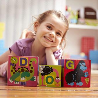 Melissa & Doug Deluxe 10-Piece Alphabet Nesting and Stacking Blocks (12782)