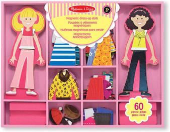 Melissa & Doug Abby & Emma Magnetic Wooden Dress-Up Dolls (14940)