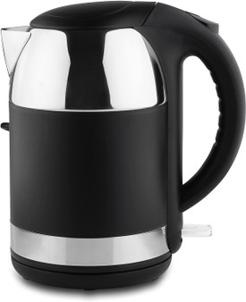 Black / Mirror Grunwerg Stainless Steel 1800W Double Wall Insulated Easy Pour 1.7 Litre Cordless Kettle (EK-170DW)