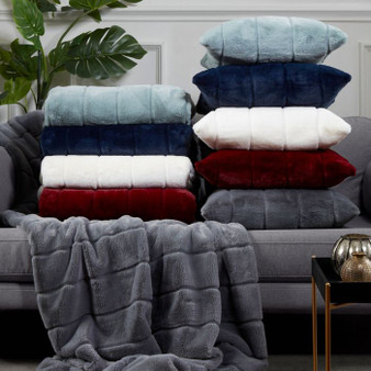 Alaska Faux Fur Polyester Filled Cushion (45x45cm)