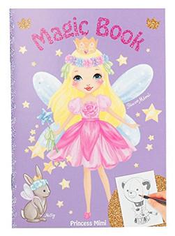 Depesche 8437 Mini Colouring Book with Magic Pages, Princess Mimi, Assorted, Multicoloured
