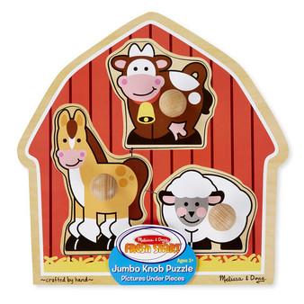 Barnyard Animals Jumbo Wooden Peg Puzzle