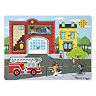 Around the Fire Station Wooden Sound Puzzle