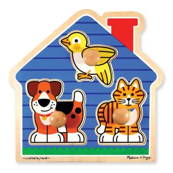 House Pets Jumbo Wooden Peg Puzzle
