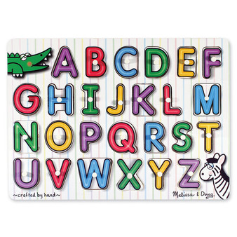 See-Inside Alphabet Wooden Peg Puzzle