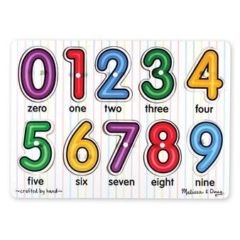 See-Inside Numbers Wooden Peg Puzzle