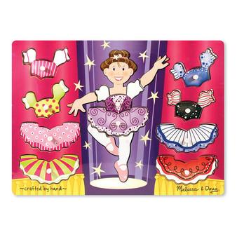 Ballerina Dress-Up Mix 'n Match Wooden Peg Puzzle