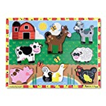 Melissa and Doug Chunky Wooden Farm Puzzle  - 8 Pieces (13723)