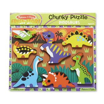 Dinosaurs Chunky Dinosaurs Chunky Puzzle - 7 Pieces