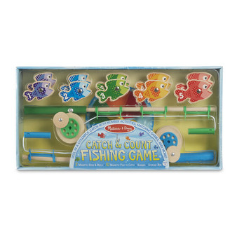 Catch & Count Wooden Magnetic Fishing Rod Set