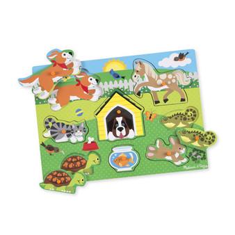 Pets Wooden Peg Puzzle