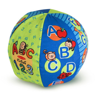 Melissa & Doug K's Kids 2 in 1 Talking Soft Activity Ball