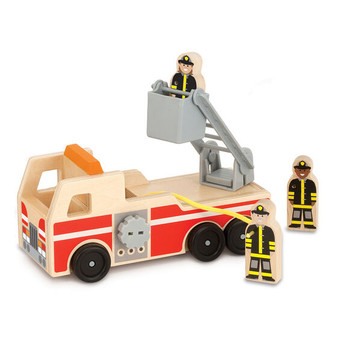 Classic Wooden Fire Engine Play Set