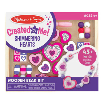Melissa & Doug Created by Me! Sparkle & Shimmer Beads Wooden Bead Kit (19495)