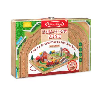 Take-Along Wooden Tabletop Farm