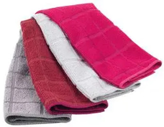 KLEENEZE MICROFIBRE CLOTHS - 4 pack