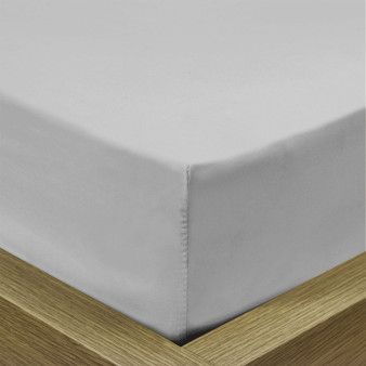 Standard Fitted Sheet - Pale Silver