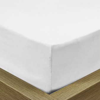 Standard Fitted Sheet - White