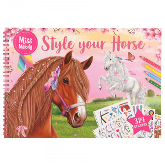 Miss Melody Style your Horse Colouring Book - 10930