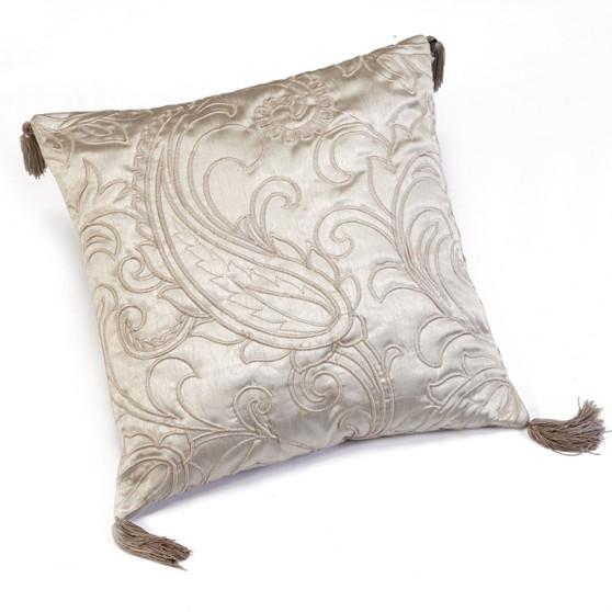 Julian Charles Paisley Natural Jacquard Square Cushion