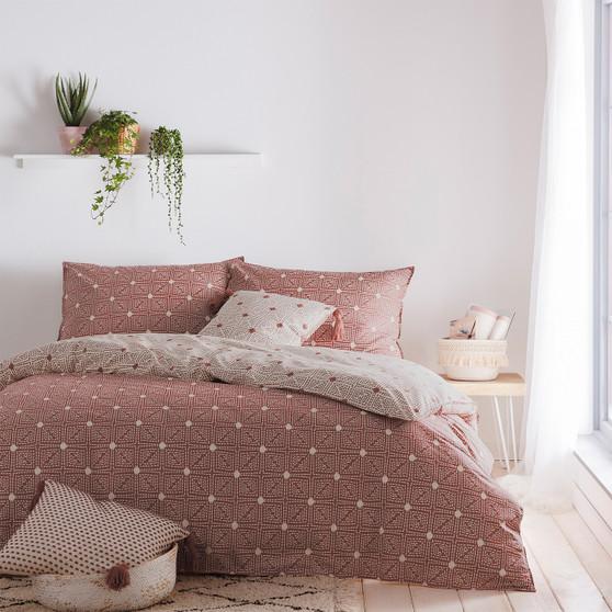 The Linen Yard - Chia Red Clay Duvet Set