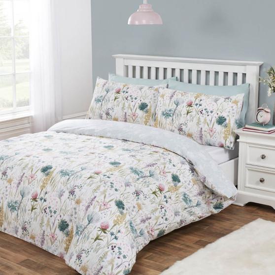 Ella Floral Cotton Rich Reversible Duvet Set